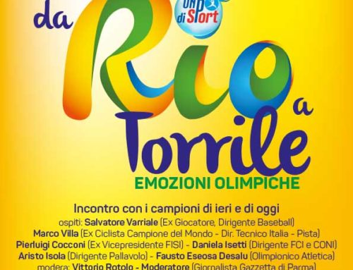 """""""Da Rio a Torrile"""": un convegno di ricordi, sensazioni ed emozioni olimpiche!"""